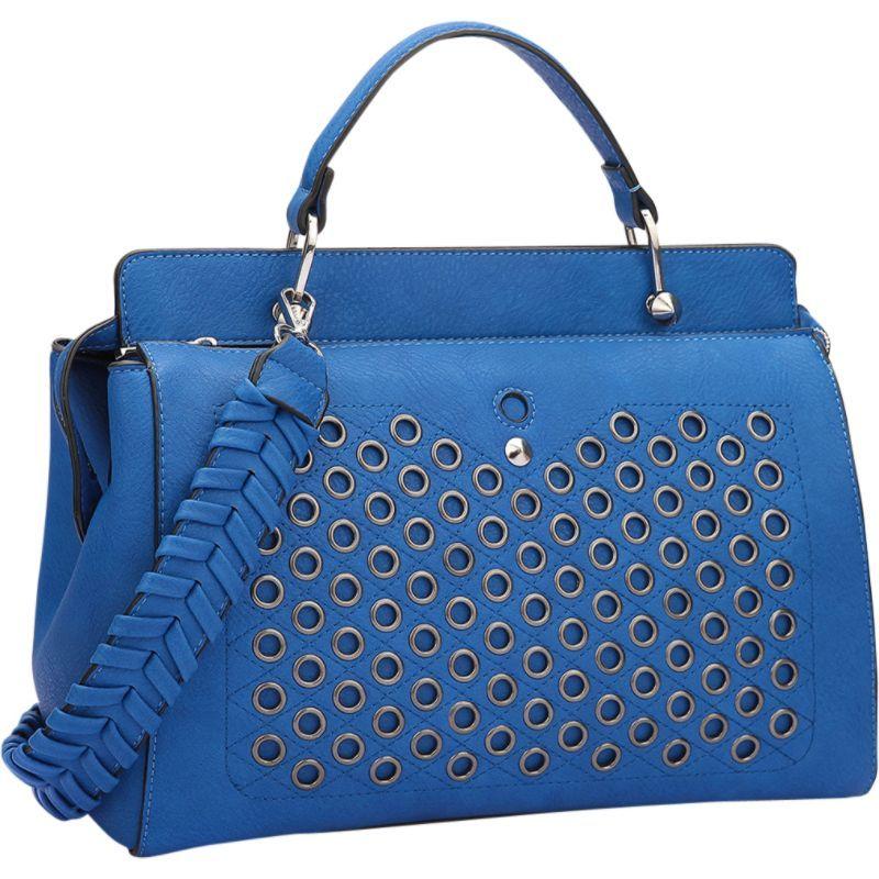ダセイン メンズ ショルダーバッグ バッグ Designer Holes and Weave Strap Shoulder Bag Royal Blue