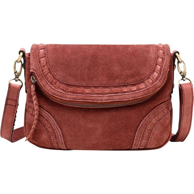 ビンセンゾレザー メンズ ボディバッグ・ウエストポーチ バッグ Mae Suede Leather Crossbody Handbag Chestnut