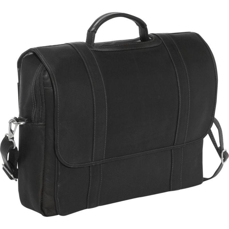 ピエール メンズ スーツケース バッグ Traditional Flap Laptop Portfolio Black