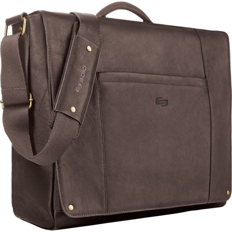 ソロ メンズ スーツケース バッグ Premium Leather 16 Laptop Messenger Chocolate