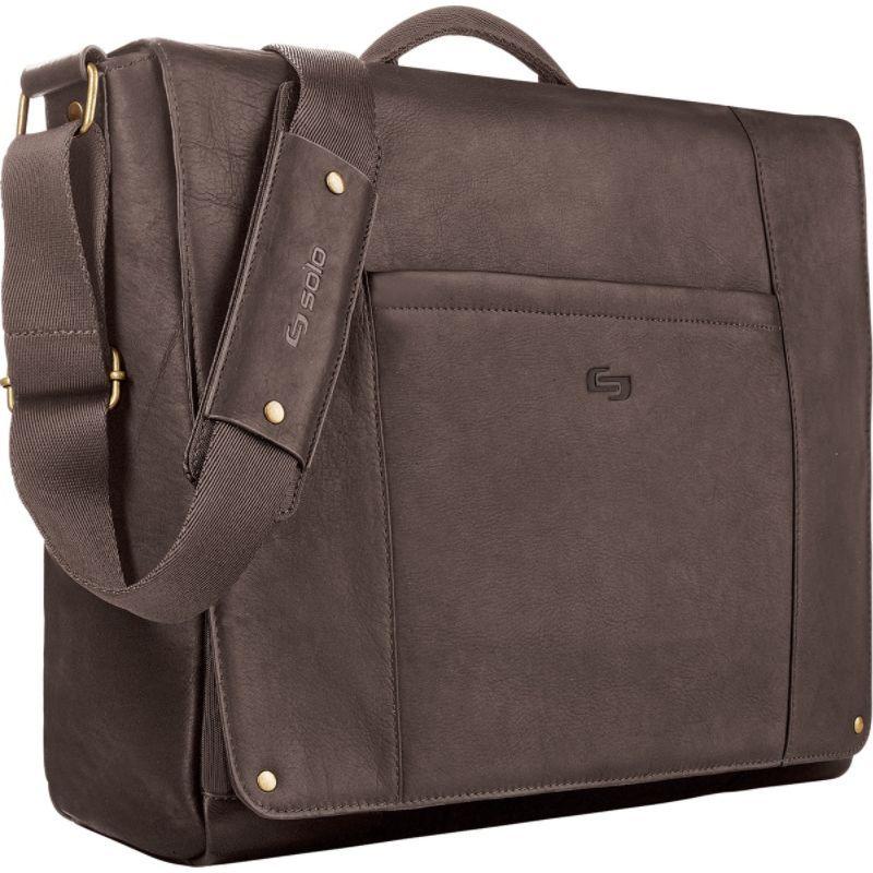 ソロ メンズ スーツケース バッグ Premium Leather 16 Laptop Messenger Chocolate