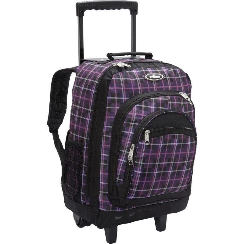 エバーレスト メンズ バックパック・リュックサック バッグ Patterned Wheeled Backpack Purple/Black Plaid