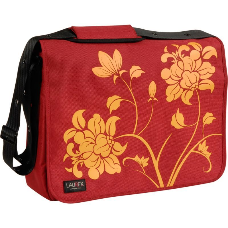 ラウレックス メンズ スーツケース バッグ 17 Laptop Messenger Bag Red Blossom
