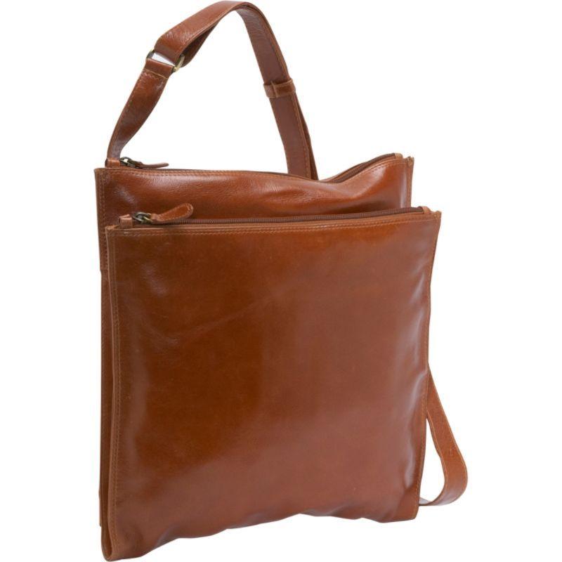 デレクアレクサンダー メンズ ボディバッグ・ウエストポーチ バッグ Square Shoulder Bag Tan