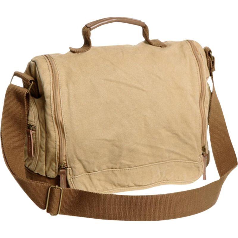 ヴァガボンドトラベラー メンズ ショルダーバッグ バッグ Washed Canvas Leisure Messenger Bag Khaki