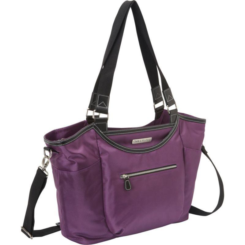 クラークアンドメイフィールド メンズ スーツケース バッグ Bellevue Laptop Handbag 18.4 Purple