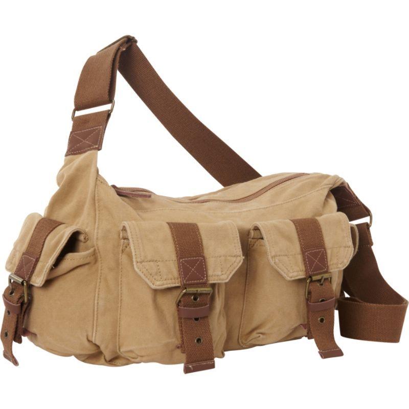 ヴァガボンドトラベラー メンズ ショルダーバッグ バッグ Boat Style Canvas Messenger Bag Khaki