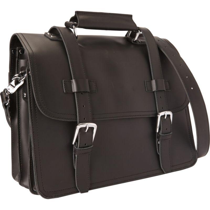ヴァガボンドトラベラー メンズ スーツケース バッグ 16 3-tier Pro Leather Briefcase Laptop Case Black