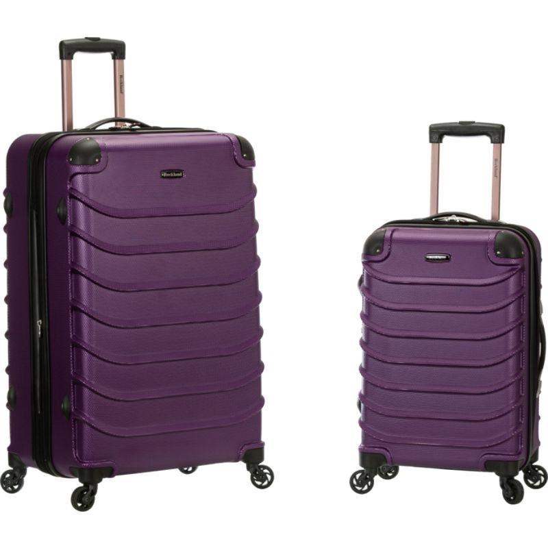 ロックランド メンズ スーツケース バッグ 2pc Speciale Expandable ABS Spinner Set Purple