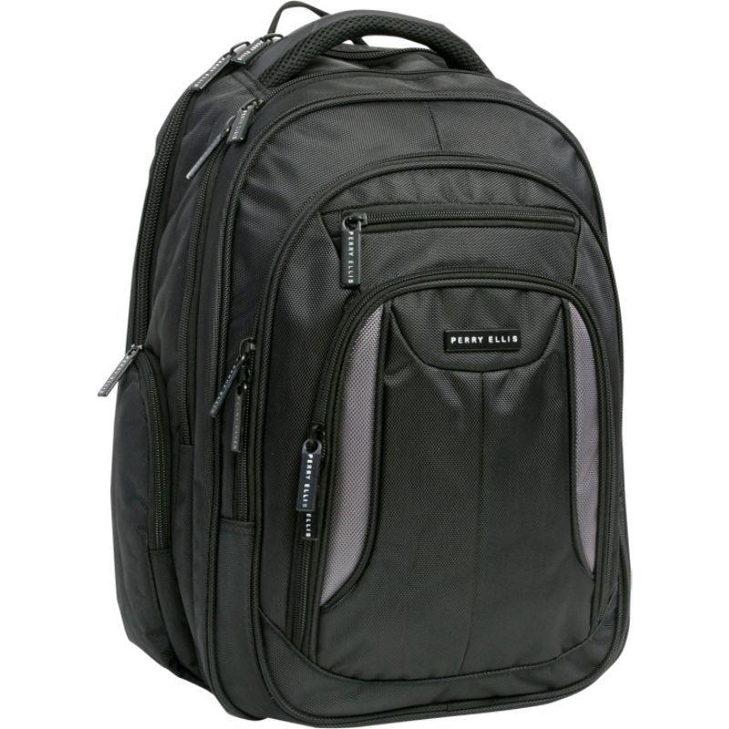 ペリーエリス メンズ スーツケース バッグ M160 Business Laptop Backpack Black