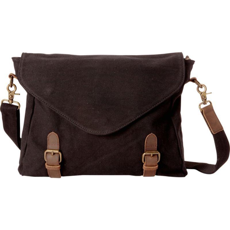 ヴァガボンドトラベラー メンズ スーツケース バッグ Casual Style Canvas Messenger Bag Black