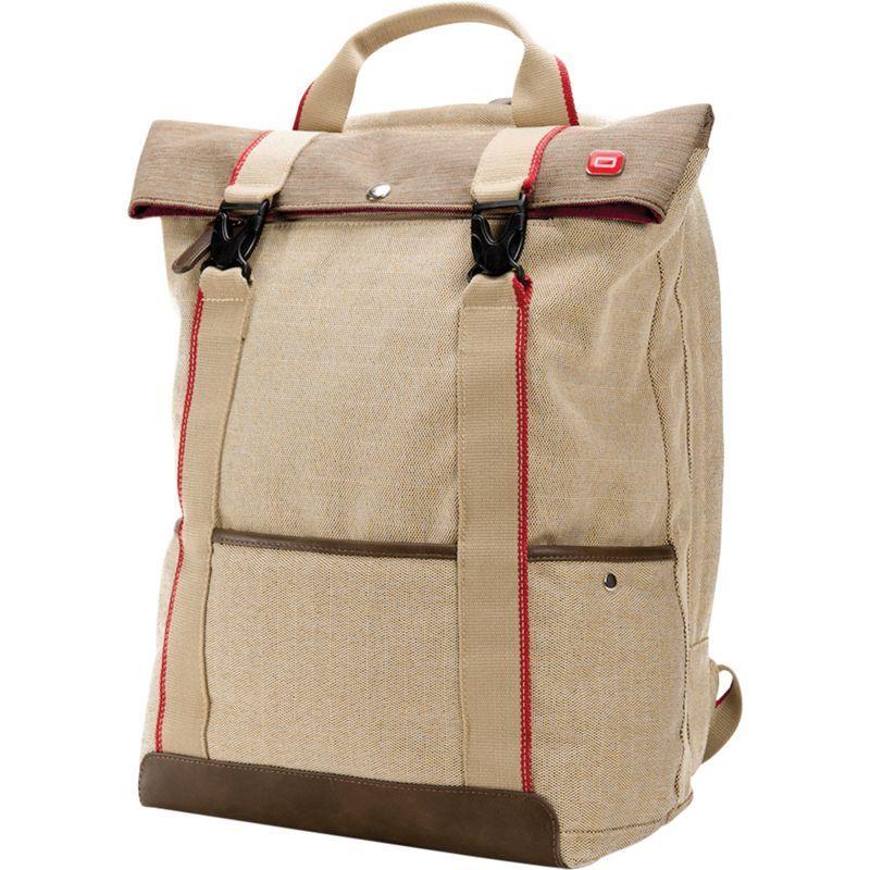 オキシオ メンズ スーツケース バッグ Rykke Laptop Backpack Beige