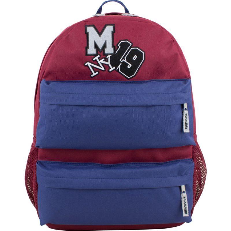 イーストポート メンズ バックパック・リュックサック バッグ Everyday Student Dual-Pocket Backpack Burgundy/Cobalt Blue