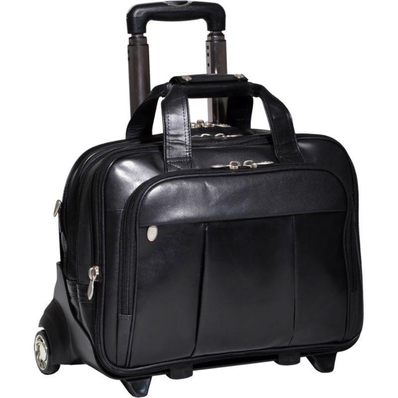 マックレイン メンズ スーツケース バッグ Damen Leather Wheeled 17 Laptop Case Black