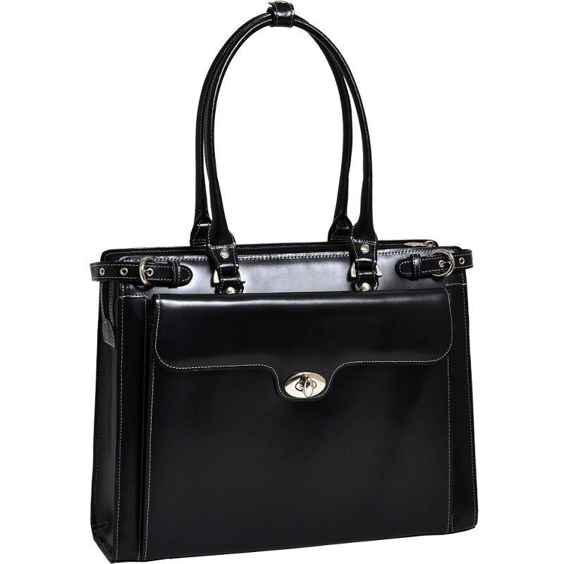 マックレイン レディース スーツケース バッグ W Series Winnetka Leather Women's 15.4 Laptop Case Black
