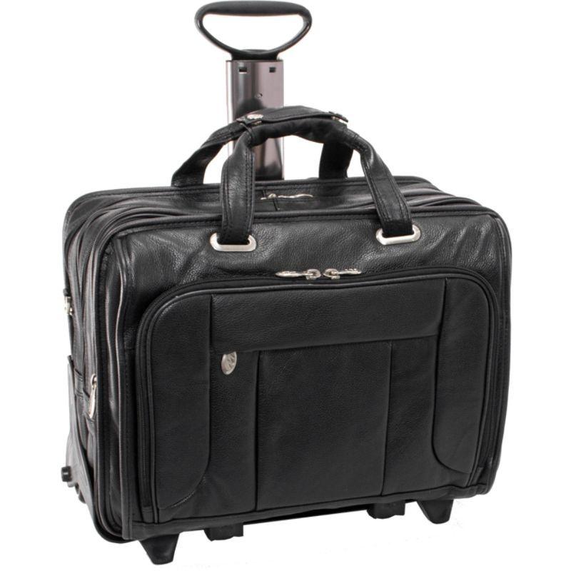 マックレイン メンズ スーツケース バッグ West Town Checkpoint 15.6 Wheeled Laptop Case Black