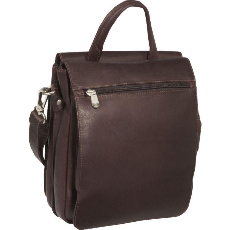 ピエール メンズ ショルダーバッグ バッグ Double Flap-Over Shoulder Bag Chocolate