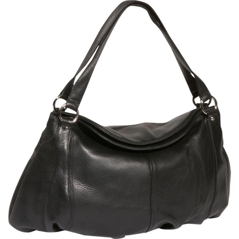 デレクアレクサンダー メンズ ショルダーバッグ バッグ Large Gathered Pouch Handbag Black