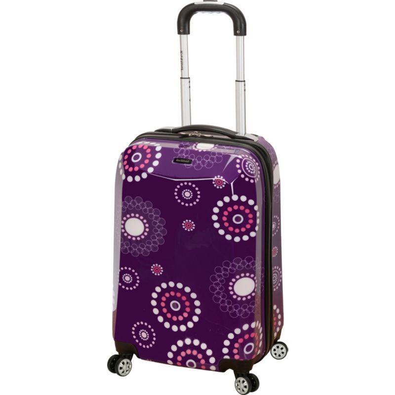 ロックランド メンズ スーツケース バッグ 20 Vision Polycarbonate Carry-On Purple Pearl