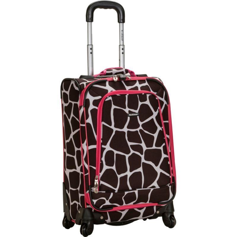 ロックランド メンズ スーツケース バッグ Venice 20 Spinner Carry On Pink Giraffe