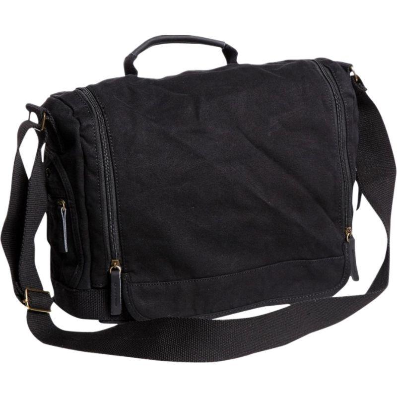 ヴァガボンドトラベラー メンズ ショルダーバッグ バッグ Washed Canvas Leisure Messenger Bag Black