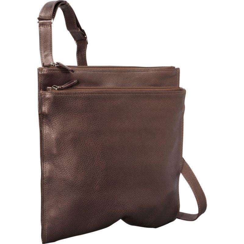 デレクアレクサンダー メンズ ショルダーバッグ バッグ NS Super Slim w/ Double Top Zip Shoulder Bag Bronze
