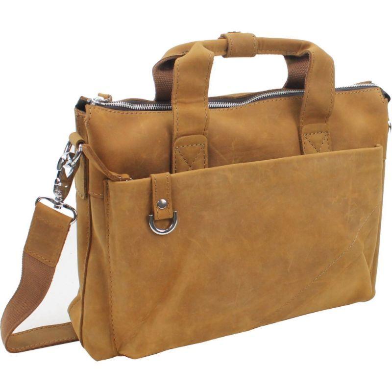 ヴァガボンドトラベラー メンズ スーツケース バッグ 15.5 Leather Business Case Nature Brown