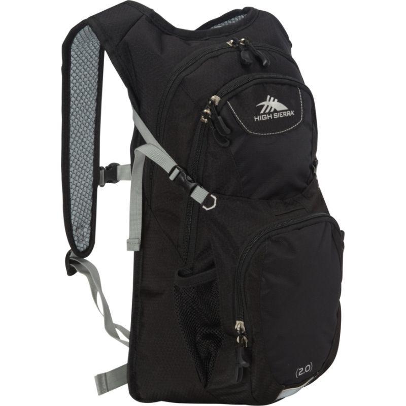 ハイシエラ メンズ バックパック・リュックサック バッグ Longshot 70 Hydration Pack Black/Black/Silver