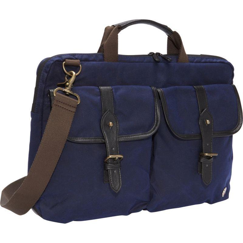 トーケン メンズ スーツケース バッグ Waxed Knickerbocker Laptop Bag (15) Navy/Black