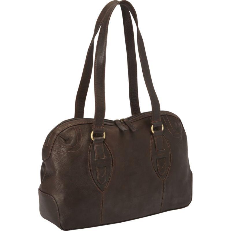 デレクアレクサンダー メンズ ショルダーバッグ バッグ E/W Top Zip Satchel Bag Brown