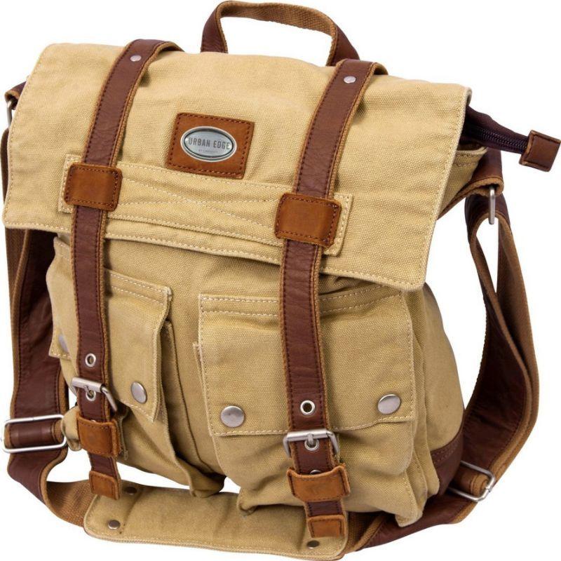 キャニオンアウトバック メンズ ショルダーバッグ バッグ Urban Edge Grady Canvas Messenger Bag Tan