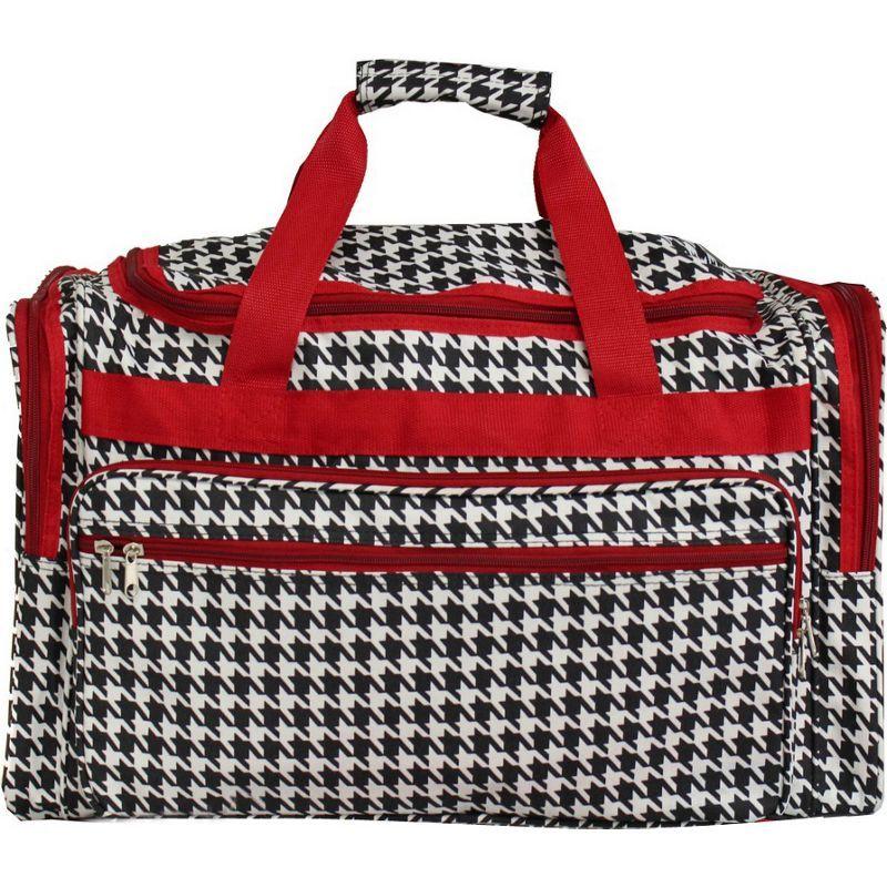 ワールドトラベラー メンズ スーツケース バッグ Houndstooth 19 Shoulder Duffle Bag Red Trim Houndstooth