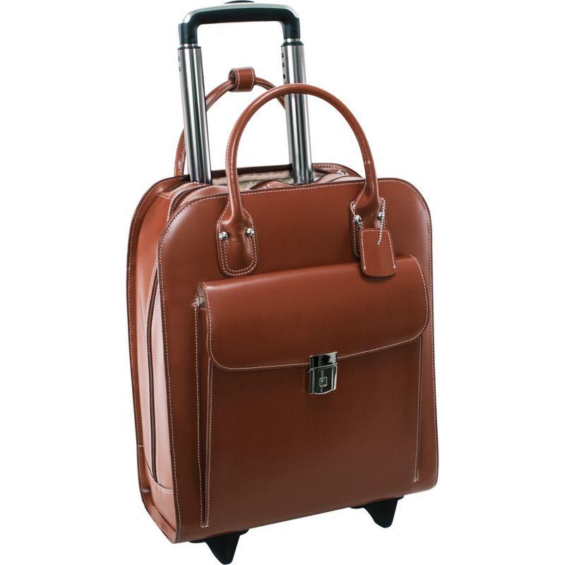 マックレイン メンズ スーツケース バッグ Uptown Rolling Business Case Brown