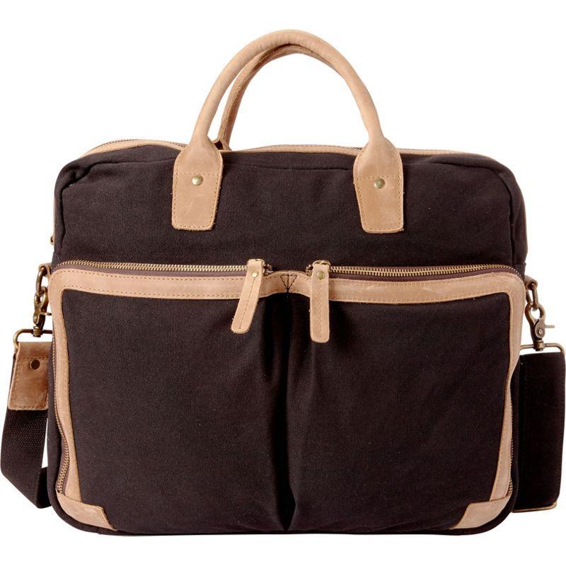 ヴァガボンドトラベラー メンズ スーツケース バッグ Casual Style Cotton Canvas Messenger Bag Black
