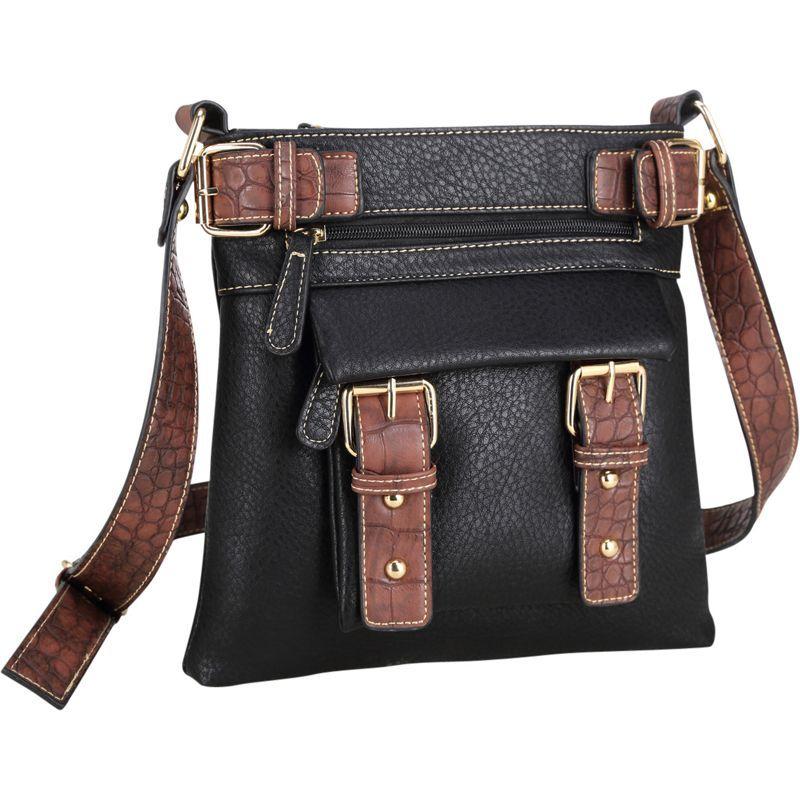 ダセイン メンズ ボディバッグ・ウエストポーチ バッグ Soft Faux Leather Crossbody Black