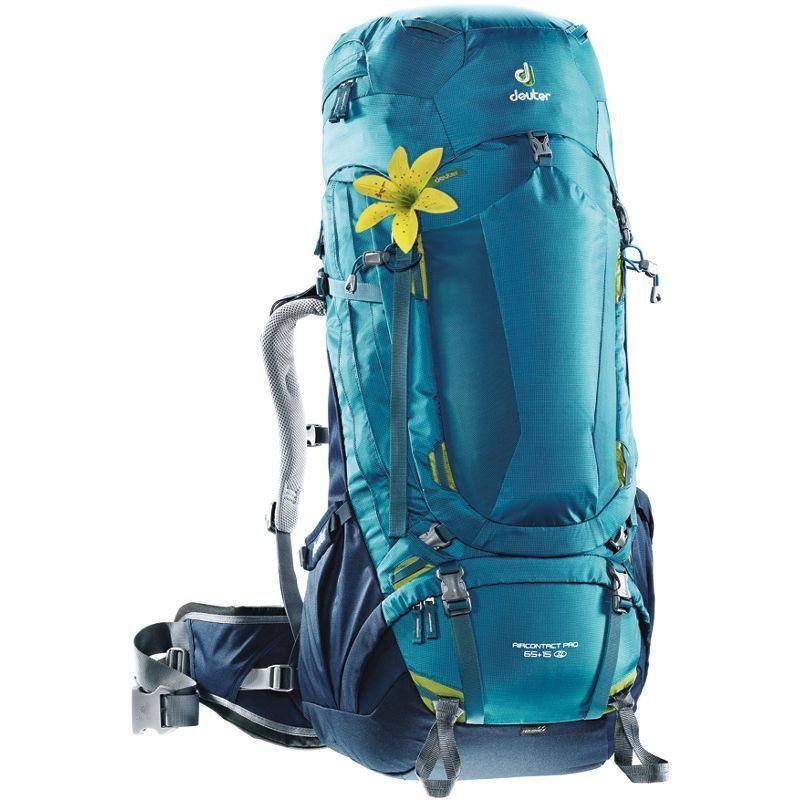 ドイター メンズ バックパック・リュックサック バッグ Aircontact Pro 65+15 SL Hiking Pack Denim/Midnight
