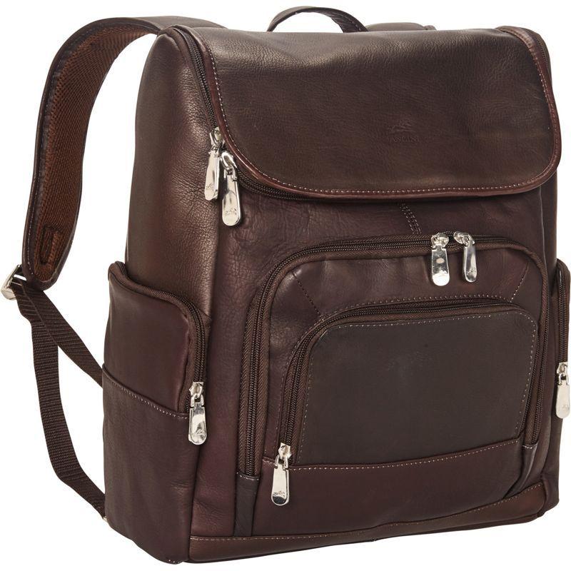 マンシニレザーグッズ メンズ スーツケース バッグ Columbian 15.6 Laptop Backpack with RFID Secure Pocket Brown