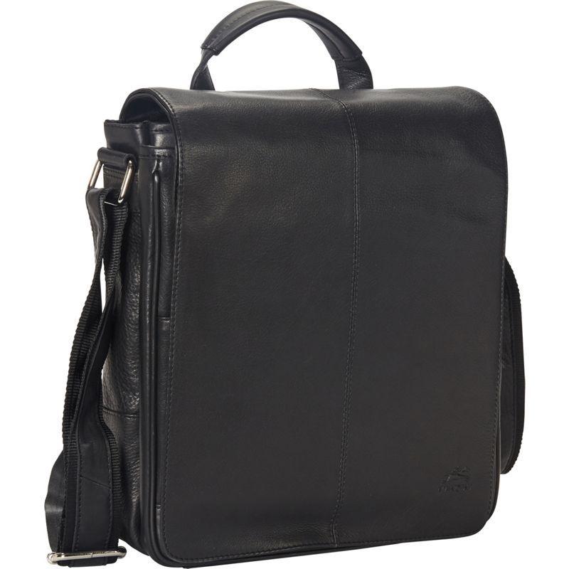 マンシニレザーグッズ メンズ スーツケース バッグ Colombian Messenger Style Tablet Bag Black