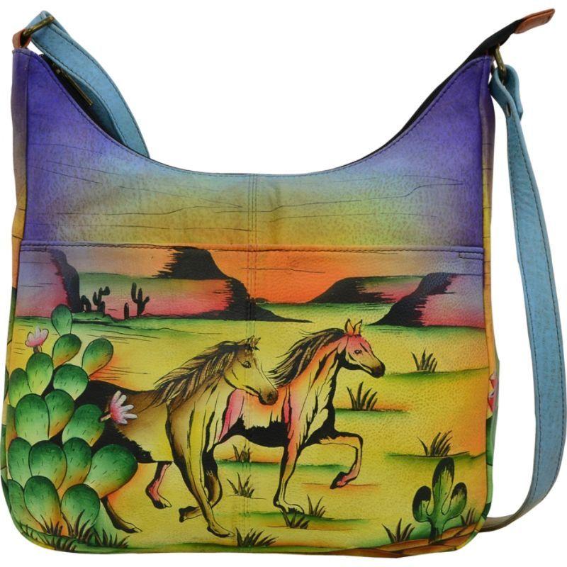 アンナバイアナシュカ メンズ ショルダーバッグ バッグ Hand Painted Medium Shopper Bag Arizona Mustang