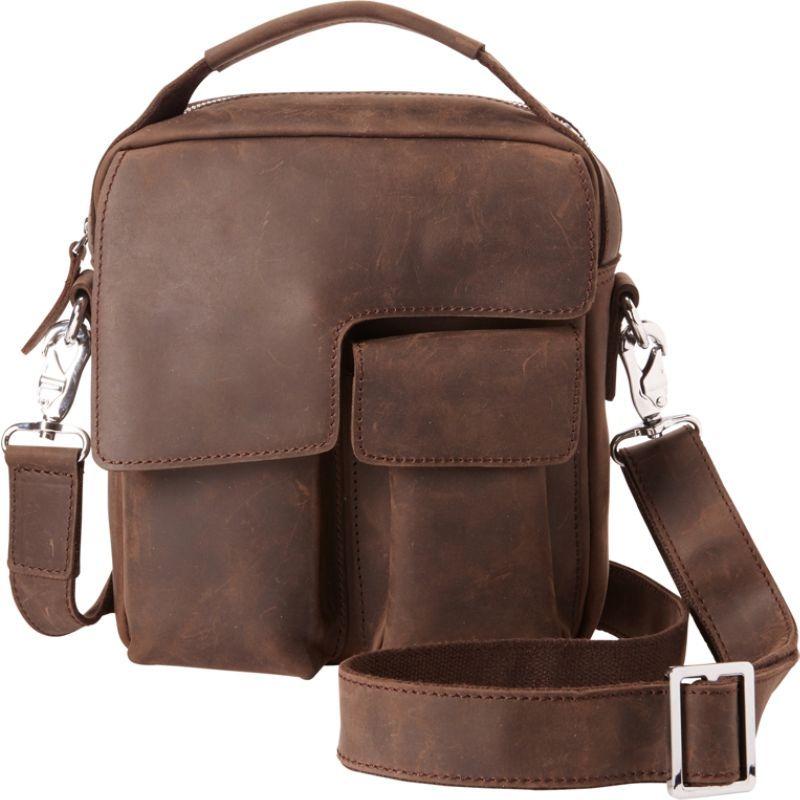 ヴァガボンドトラベラー メンズ ショルダーバッグ バッグ Small Shoulder Bag with Lift Handle Distress