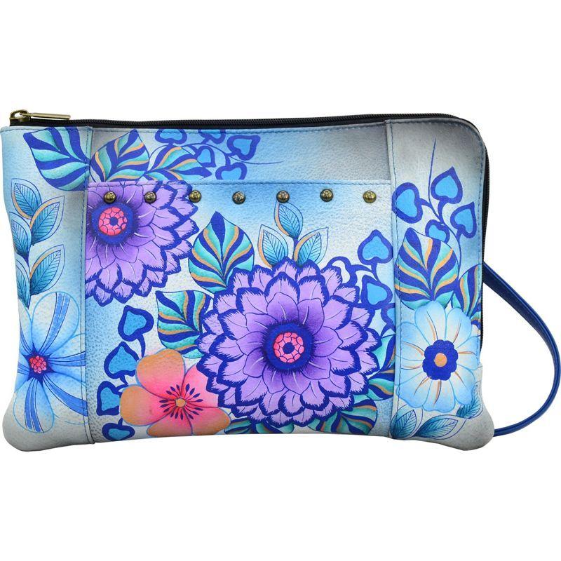 アンナバイアナシュカ メンズ ボディバッグ・ウエストポーチ バッグ Hand Painted Medium Crossbody Organizer Summer Bloom Blue