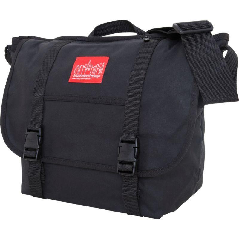 マンハッタンポーテージ メンズ ショルダーバッグ バッグ Waxed Canvas Messenger Bag - Medium Black
