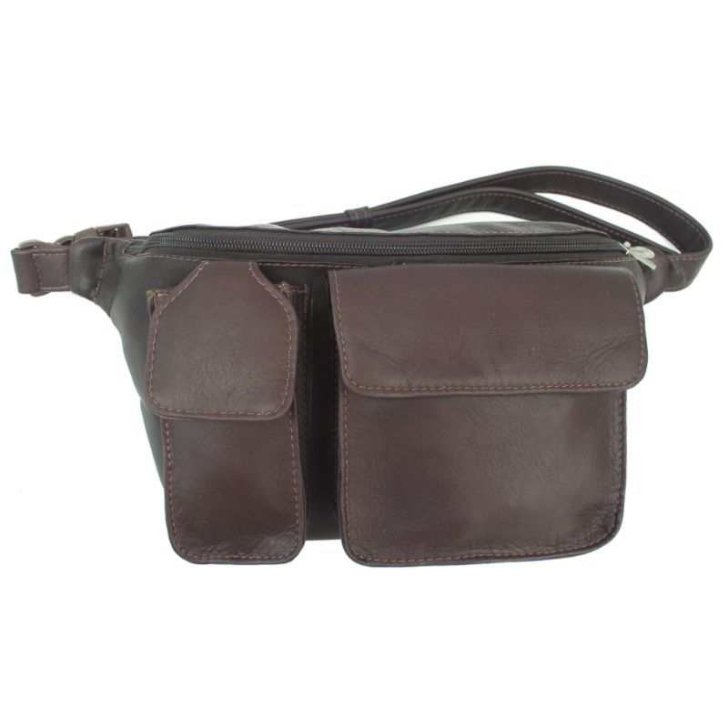 ピエール メンズ ボディバッグ・ウエストポーチ バッグ Waist Bag with Phone Pocket Chocolate
