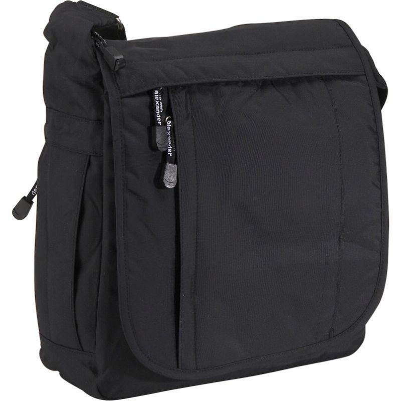 デレクアレクサンダー メンズ ショルダーバッグ バッグ North/South Full Flap Carry On - Unisex Black