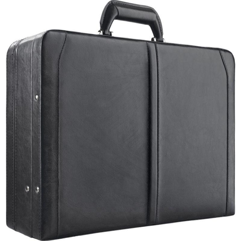 ソロ メンズ スーツケース バッグ Premium Leather 16 Laptop Attach, Hard-sided with Combination Locks Black