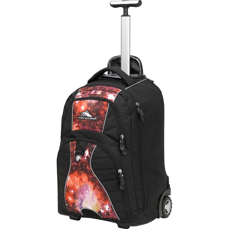 ハイシエラ メンズ バックパック・リュックサック バッグ Freewheel Rolling Backpack Black/Space Age