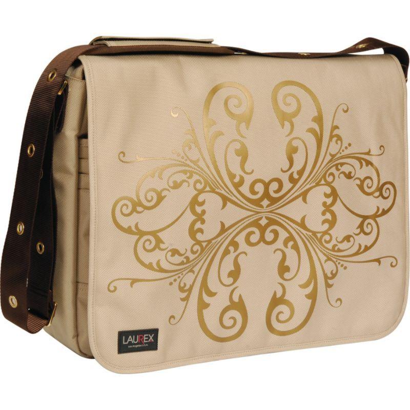 ラウレックス メンズ スーツケース バッグ 17 Laptop Messenger Bag Beige Butterfly