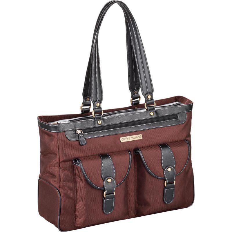 クラークアンドメイフィールド メンズ スーツケース バッグ Marquam Laptop Handbag 18.4 Bordeaux Brown