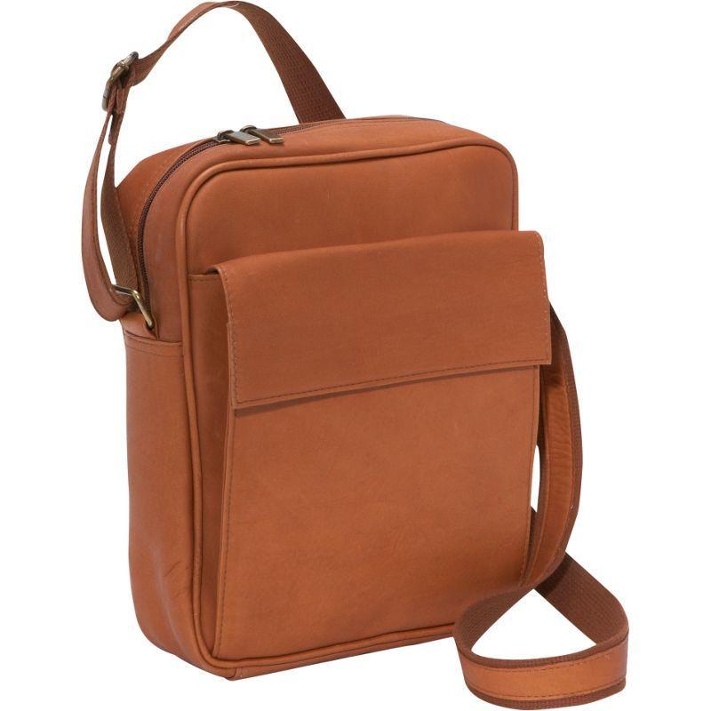 ルドネレザー メンズ ショルダーバッグ バッグ iPad / eReader Carry All Bag Tan