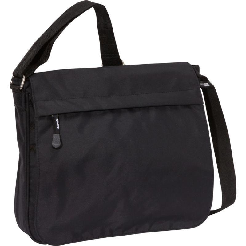デレクアレクサンダー メンズ ショルダーバッグ バッグ Full Flap Shoulder Bag Black